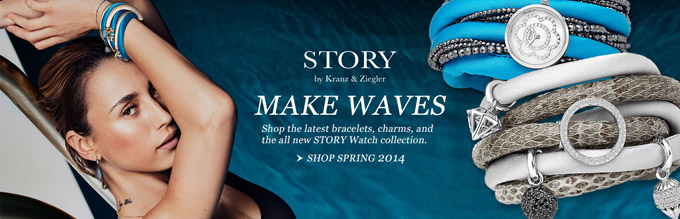 Make waves with STORY, the unique, sophisticated, premium line of charm bracelet from Europe.
