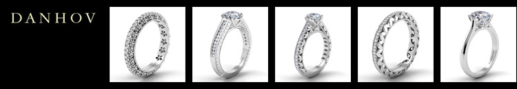 Danhov is an award-winning designer of handcrafted unique engagement rings, wedding rings and fine jewelry