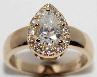 One of our custom engagement rings created for an Anchorage customer.
