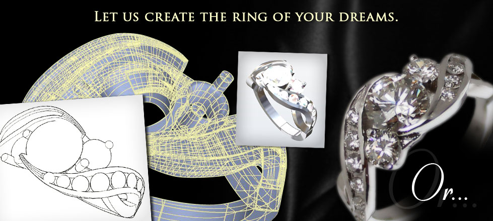 Giamante can create the custom wedding ring of your dreams.
