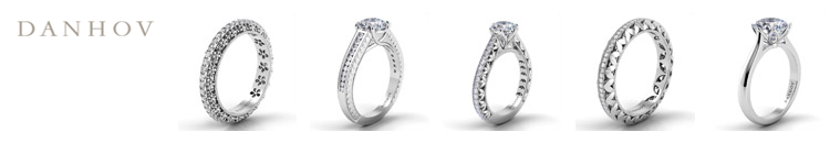 Danhov Engagement Rings are available at Giamante Jewelry in Anchorage