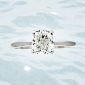 custom princess cut diamond anchorage