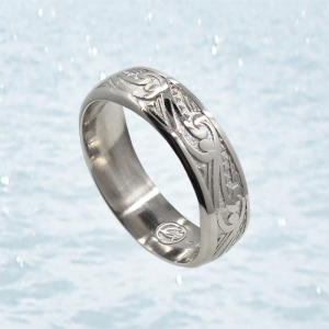 sterling silver wedding band anchorage